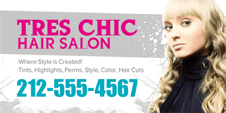 Chic Hair Salon Poster