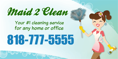 Maid and Cleaning Service Banner