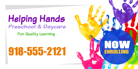 Childcare and Daycare Banner: 790-1