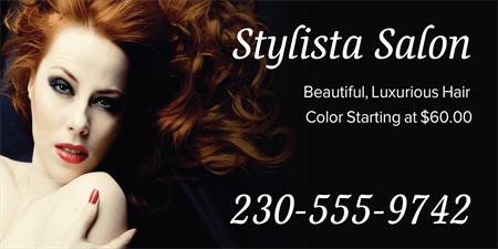 Hair Color Advertising Car Magnet: 848-1