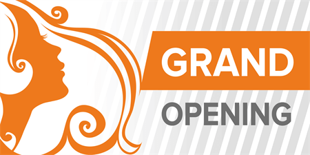 Salon Grand Opening Window Decal: 921-1