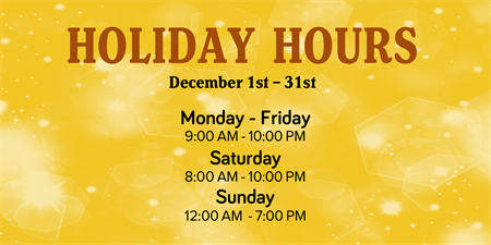 Business Holiday Hours Postcard: 930-1