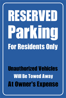 reserved parking signs template - reserved parking sign signazon