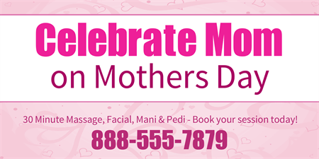 Mother's Day Salon Special Business Card: 1176-1
