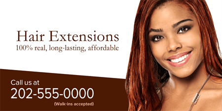 Hair Extensions Business Card: 1223-1