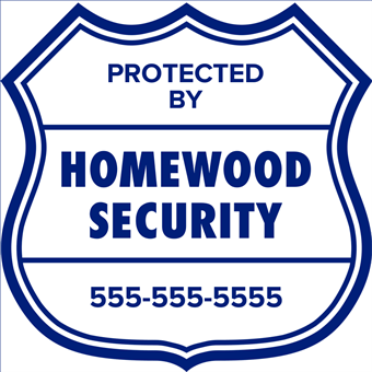 Home Protection Window Decal: 1361-1