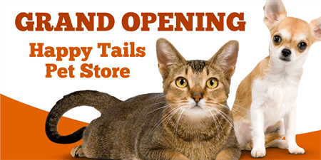 Pet Store Grand Opening Business Card: 1371-1
