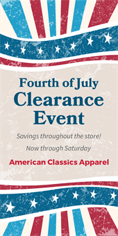 Fourth Of July Clearance Banner Signazon