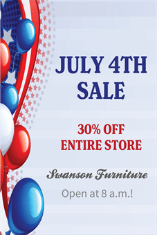 July 4th Sale Banner: 1499-1