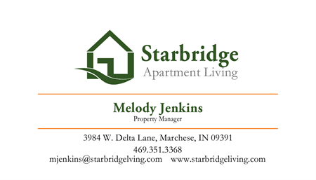 Apartment Manager Business Card: 1566-1