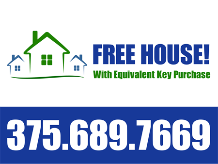 For Sale By Owner Free House Yard Sign: 1594-1