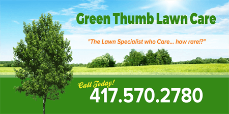 Green Lawn Care Car Magnet: 1621-1