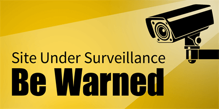 Site Security Surveillance Window Decal: 1679-1