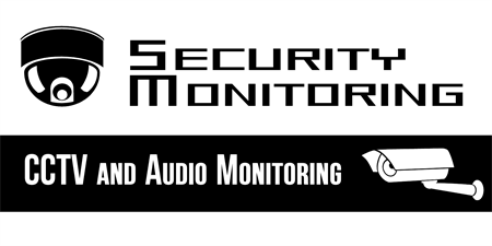 Security Monitoring Site Window Decal: 1682-1