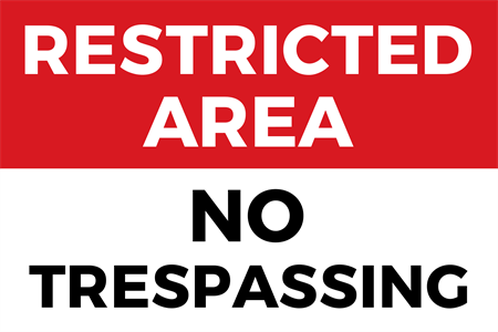 Restricted Area Window Decal: 1689-1