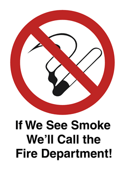 Silly No Smoking Window Decal: 1743-1