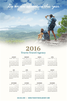 Travel Agency Ad Calendar: 1827-1