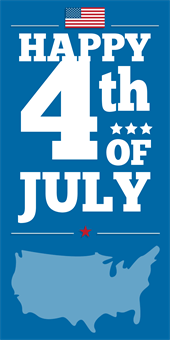 Vertical 4th Of July Banner: 2106-1