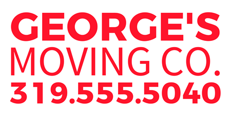 Moving Company Number Lettering