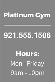 Gym Hours Lettering: 2112-1