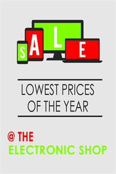 Holiday Electronics Sale Poster
