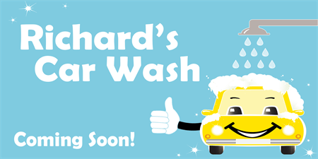Car Wash Coming Soon Banner: 2659-1