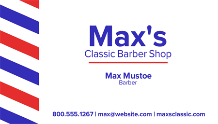 Classic Barbershop Business Card: 2687-1