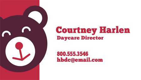 Day Care Director Business Card: 2708-1