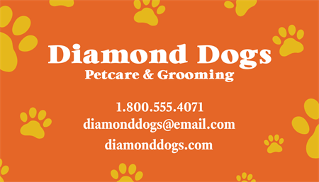 Pet Sitting Business Card: 2717-1