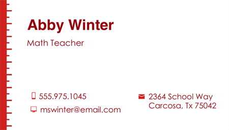 Teacher Business Cards Tutoring Business Cards Signazon - Teacher business card template