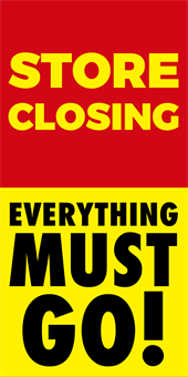 Store Closing Sale Banner: 3019-1