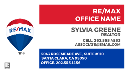 RE/MAX For Sale With Logo Business Card: 710-2
