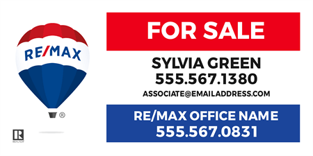 RE/MAX For Sale With Logo Car Magnet: 710-10