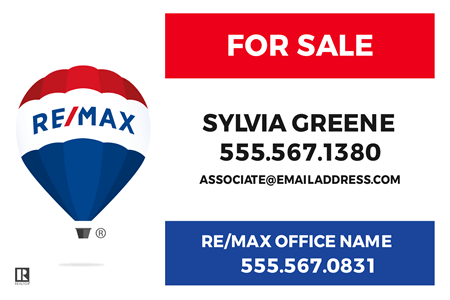 RE/MAX For Sale With Logo Window Decal: 710-11