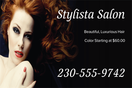 Hair Color Advertising Window Decal