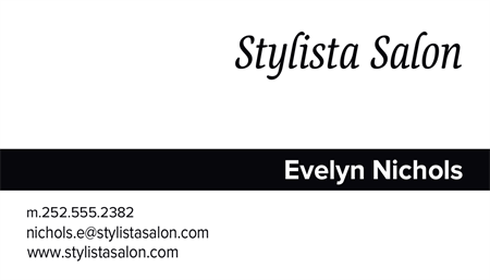 Hair Color Advertising Business Card: 848-9