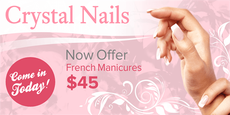 French Manicures Business Card: 160-1