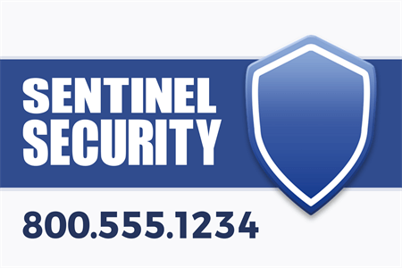 Security Protection Services Window Decal: 908-2