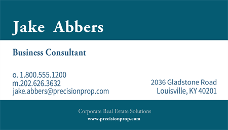 Commercial Real Estate Business Card: 737-9