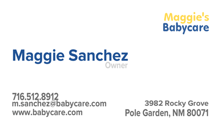Child And Baby Care Business Card: 489-9