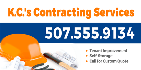 Construction Contractor Car Magnet: 225-1