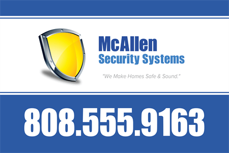 Home Security Service Window Decal: 701-2