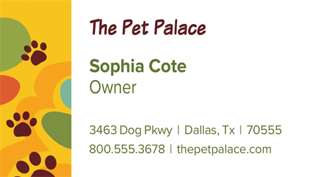 Pet Store Patterns Business Card: 1096-7