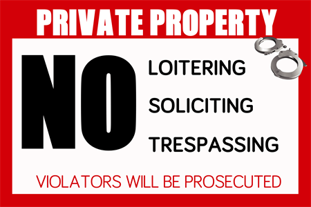 Private Property Warning Window Decal: 251-1