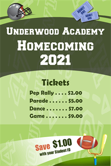 Homecoming Tickets Banner: 277-1