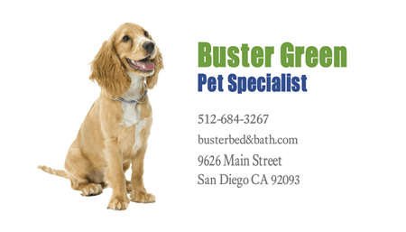 Pet Caretaker Business Card: 209-9