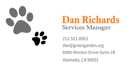 Pet Care Lodging Service Business Card: 707-9