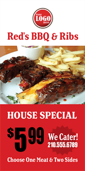 Barbecue Restaurant Specials A Frame Sign: 777-6
