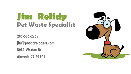 Dog Waste Removal Business Card: 1483-9