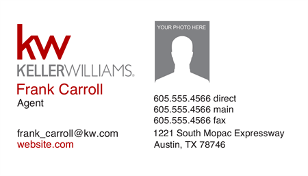 Keller Williams Realty Directional Business Card: 3214-9
